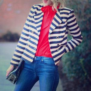 EUC Cabi Love Carol Striped Jacket Nautical 5094